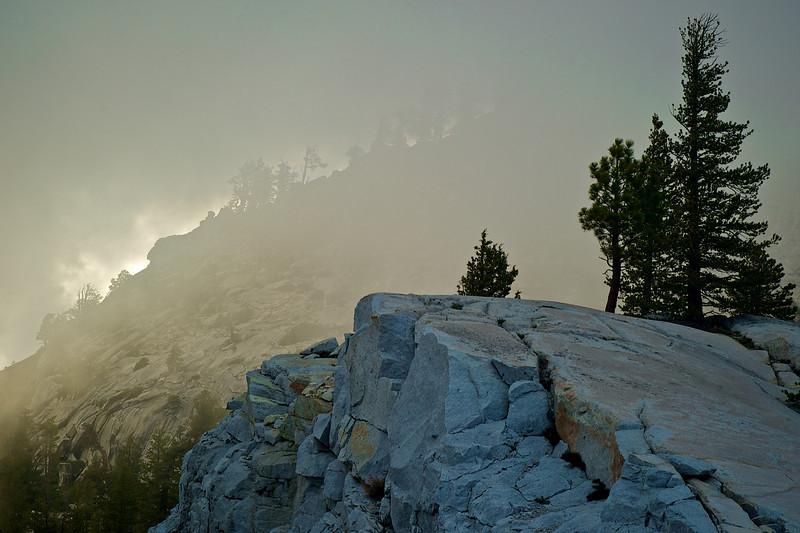 Yosemite in fog