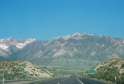 7/2/05 View from Hwy 395N approaching Crowly Lake/Hilton Creek (enroute from Bishop to Alturas). Mono County, CA