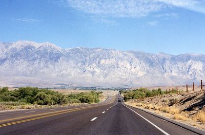 Hwy 395N from Big Pine to Crowley Lake. Eastern Sierras, Inyo County, CA