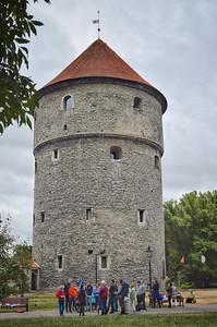 Tallinn, Estonia: the Maiden Tower (c. 13th century, modern restoration)