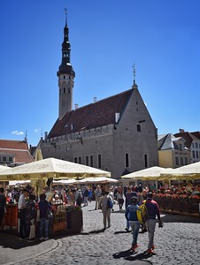Tallinn, Estonia: Town Hall and Market Square