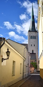 Tallinn, Estonia: St. Olav's church (c. 1516) and
