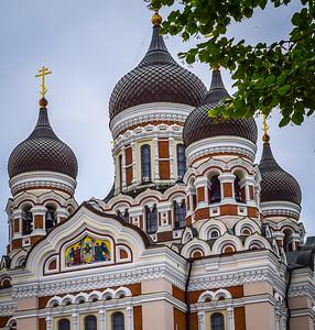 Tallinn, Estonia: Alexander Nevsky Cathedral, detail