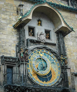 Prague Old Town: The Astronomical Tower, Detail