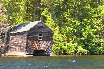 the Echo Lake boathouse