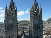 A view from the top of this tower. The Virgen of Quito is in the middle.