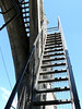 High up, the stairway to the top of the tower.  Who would be crazy enough to climb this? Nikki, of course.