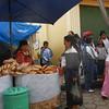 Ecuador 2012: Otavalo - Pan vendors at the Otavalo food market