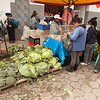 Ecuador 2012: Otavalo - Impressive brassicas at the food market