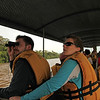 Ecuador 2012: Sacha Lodge - Martin and Jill; boating to a parrot lick on the Rio Napo