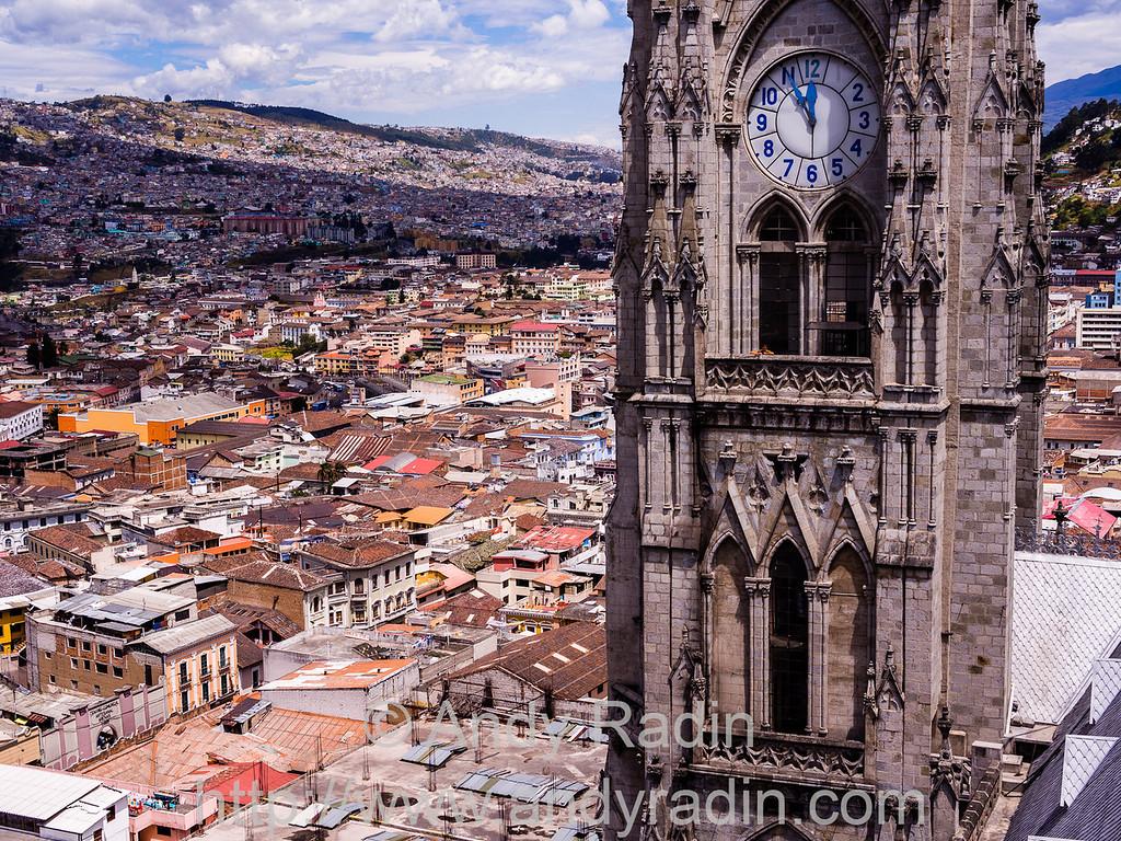 Quito, Ecuador - from the bell tower of the Basilica del Voto Nacional.