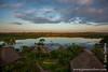Sunset over Lake Anangucocha and Napo Wildlife Center Lodge
