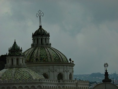 La Merced Church and Quito skyline