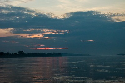 Sunset on the Napo River