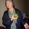 Judy and her green orange