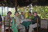 Mirador Rio Blanco Restaurant, Aug 11. Gerald, Pat, Steve, Nelson (guide), and Don.