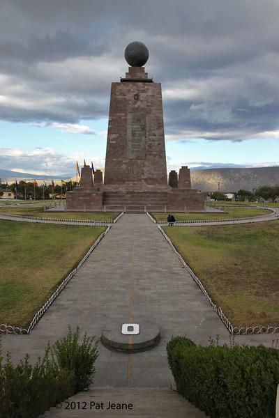 Equator Monument, Quito, Aug 18. Standing on the Equator!