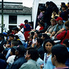 Crowd at puppet show, Quito