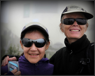Quito - Deborah Hines and Lilian Velasquez at Teleferico
