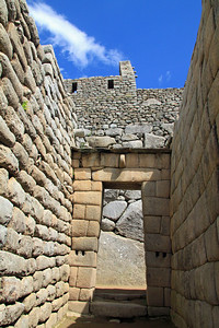 An example of the trapezoidal shape of doorways.  This design is quite resistant to the forces of earthquakes.