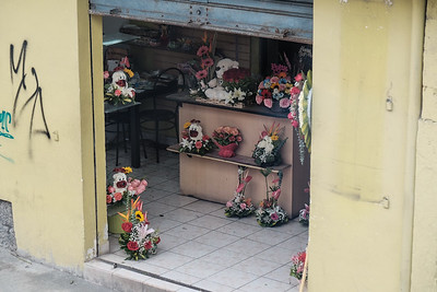 One of many florist shops.