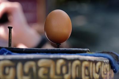 Balancing the egg...