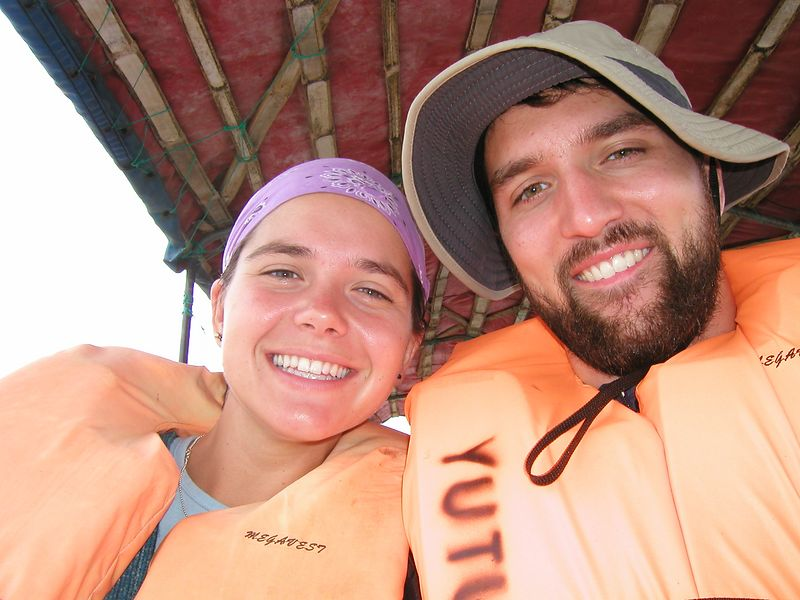 In the canoe on the way from Coca to Yuturi - a 6 hour journey