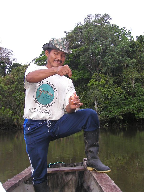 Our guide, Medardo.  Don´t go into the jungle without him.