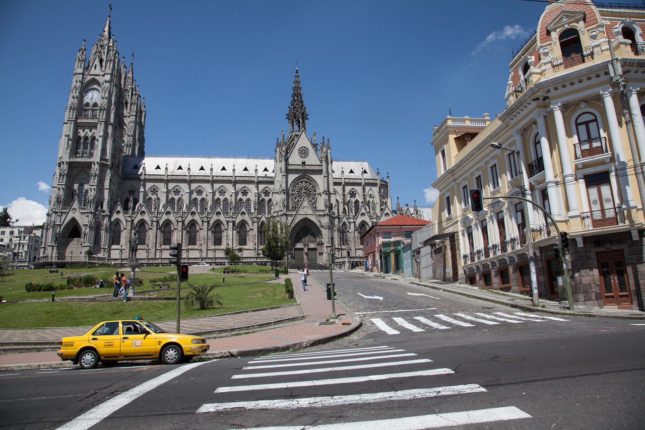 The Basílica del Voto Nacional, one of Quito's centerpieces.