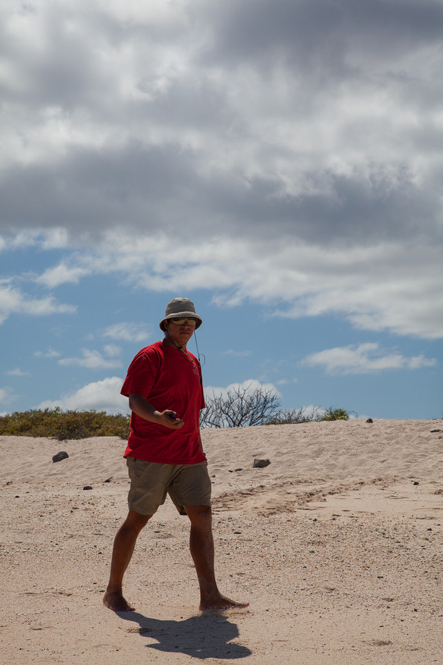 Christian, our naturalist, comes back from a little walk.