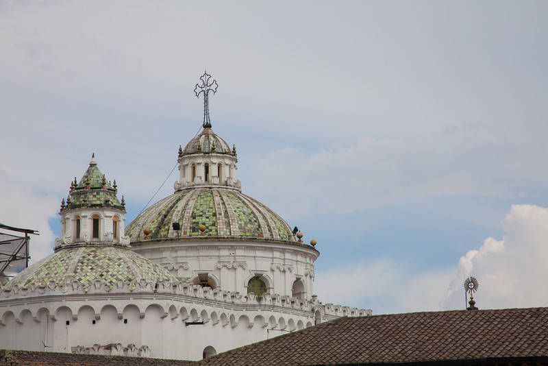 The architecture in Quito was quite nice - especially the church domes.