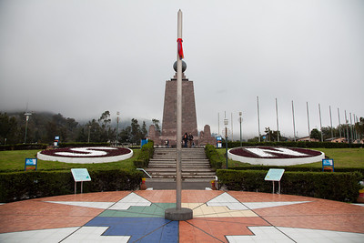 A view down the equator at Mitad del Mundo.