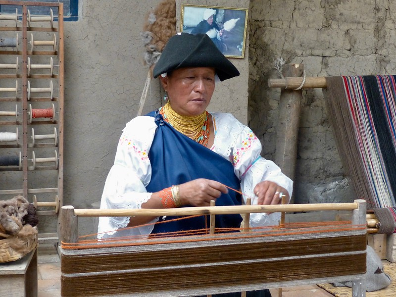 Private visit to weaver's home outside Otavalo