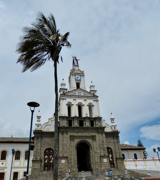 Church in square near Otavalo