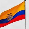Ecuadorian Flag atop Palacio de Gobierno on Plaza Grande