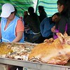 Otavalo market - pig almost gone