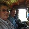 On the bus, headed for Asilo de la Paz.