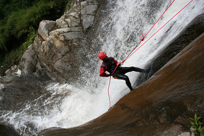 i call it rappelling down a waterfall