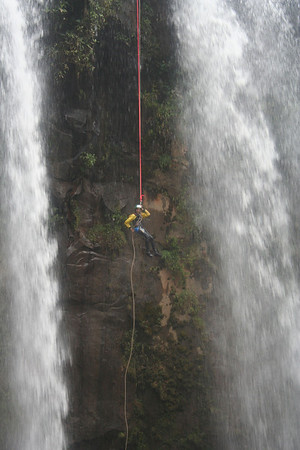 the tallest waterfall we rappelled