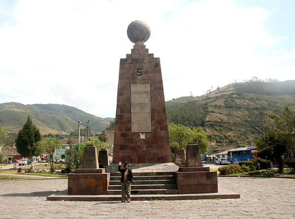 Middle of the World Monument where East meets West