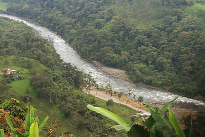 River flowing through the valley