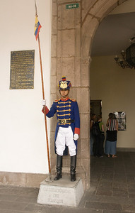 A guard at the entrance to the Presidential Palace