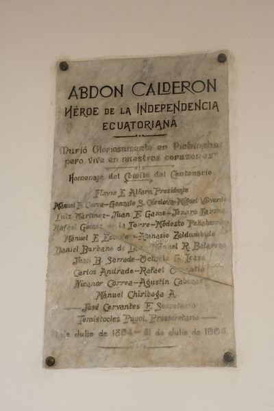 Plaque to a Hero on the wall of the passageway leading to the Presidential Palace