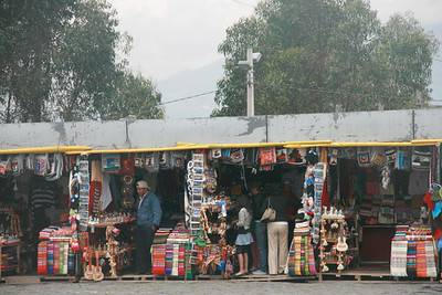 Curio shops on Panecillo Hill