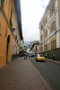 Paved streets of Quito
