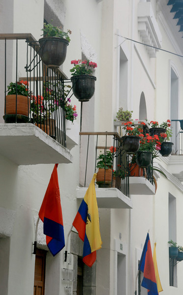 Balconies of the houses on La Ronda Street