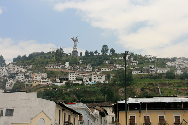 View of the Panecillo Hill in the distance