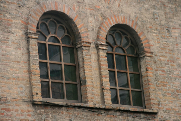Old brick facade