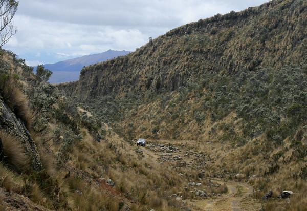 Deep ravine
