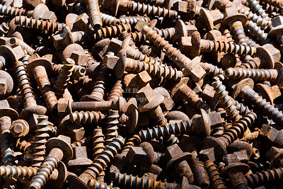 Railway Screws at Sibambe Train Station